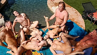 DevilsFilm Neighborhood Swingers Pool Party