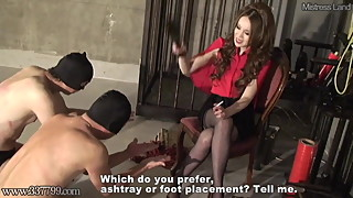 Japanese Femdom Kira Riding a Horse and Suspended Swing
