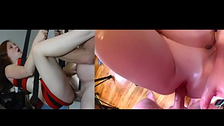 Dual View Fuck & Creampie in Sex Swing