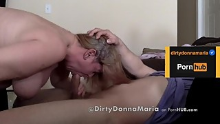 DirtyDonnaMaria Giving Head With Big Natural Tits Swinging