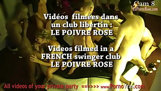 Hidden cam in a French swingers club! Part58