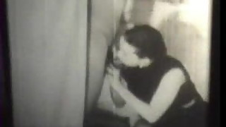 Black and White Vintage Swingers in A Bathroom